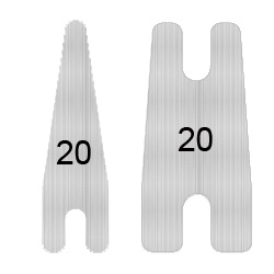 MP22-06 stainless steel springs 5mm Wide